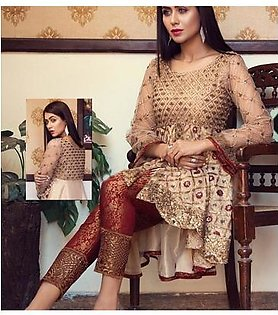 Luxury Embroidered Dress For Women