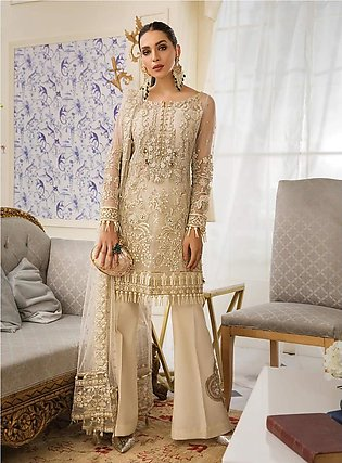 Luxury Net Embroidery Suit For Women