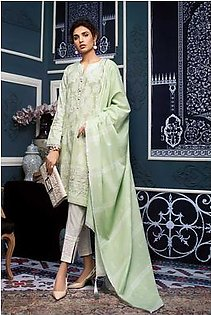 """GA - GA - Gul Ahmed-Summer Collection 2019 L.Green Jacquard Collection-3 PC Unstitched-MJ-09 -195992"""""""