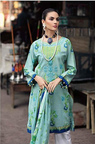 GA - GA - Gul Ahmed-Summer Collection 2019  Green Lawn-2 PC Unstitched-TL-218...