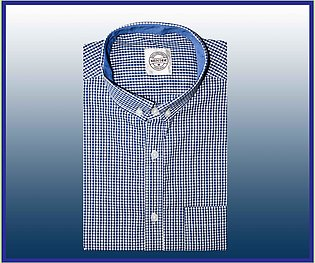 Blue Small Check casual shirt for men