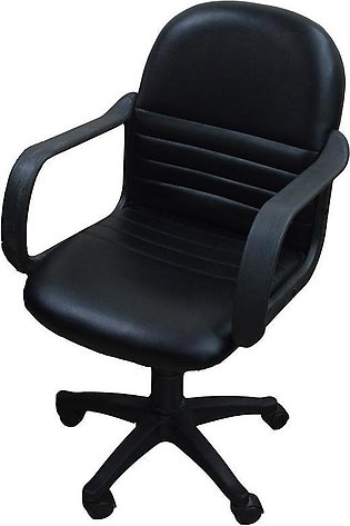 Low Back Office Revolving Chair - Black