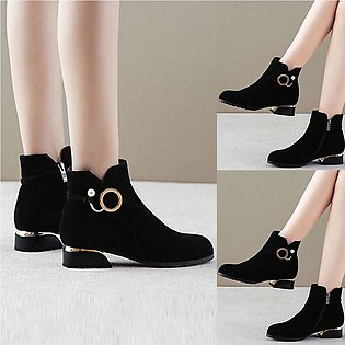 ✫Good Quality✫  Women Fashion Zipper Ankle Boots Student Casual Large Size Scru…