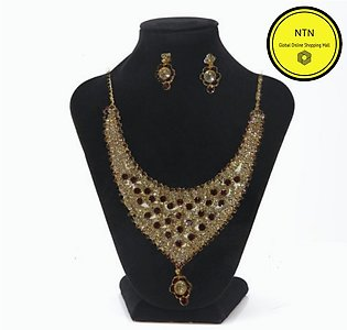 Antique Color Jewellery Set for Girls - Neckless, Earrings