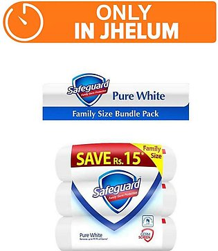Safeguard white - pack of 3 (One Day Delivery in Jhelum)