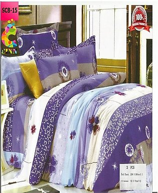 New Cotton Softy Foam Bedsheets With 2 Pillow Covers Scb-15 (R K)