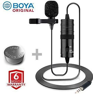 Latest Mic Boya M1 Lavalier Collar Microphone for ALL Devices Mobile Camera D...