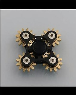 American 5 Gear Fidget Spinner - Black With Key And Case.