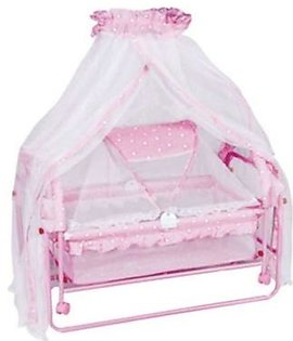 Best Quality Baby Cot & Cradle - Pink