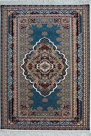 3 x 7 Hand Look Blue  Color Machine Made Area Rugs and Carpets