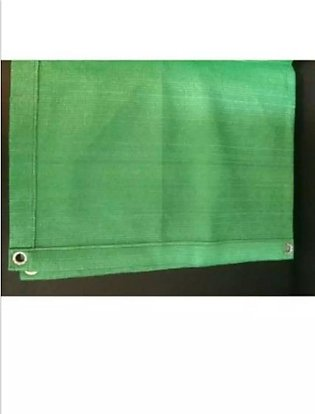 ONE 10FTX6FT GREEN SHADE NET DOUBLE FABRIC STITCHED