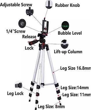 High quality 330 Big Tripod 5 Feet Mobile Stand For Mobile and Digital Camera...