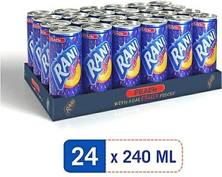 RANI FLOAT PEACH FRUIT DRINK WITH REAL FRUIT PIECES CANE 250.ML (PACK OF 24)