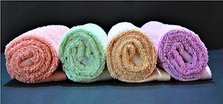 Pack Of 4 - Multicolored - Baby Towel Use For Cleaning Baby After Bath