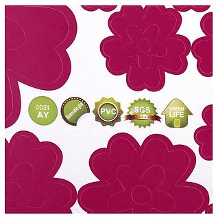 PVC Removable Flower Butterfly Wall Stickers Water Proof Art Wal