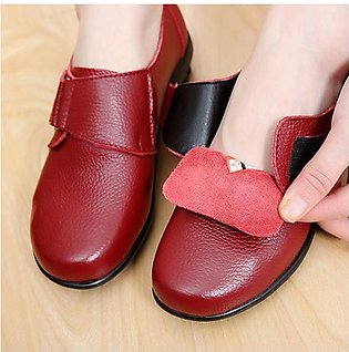 Fashion Women Big Size Buckle Leather Hook Loop Soft Flat Casual Loafers