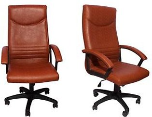 Set Of 2 - Executive Office Chair - Brown