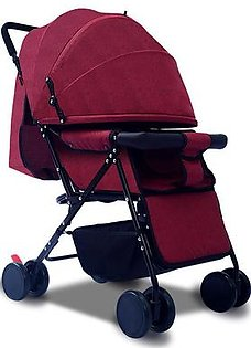 Lightweight Stroller,can sit reclining folding space big four-wheeled stroller ,Baby Cart,Super Light Portable and Can Lie in Four Wheeled