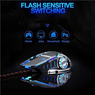 Gaming Mouse,6 Button LED Wired Gaming Mouse PC Mouse Computer Mouse with 4 Adj…