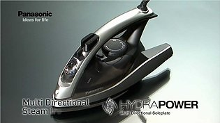 Panasonic Dry and Steam Iron with Alumite Soleplate, Fabric Temperature Dial ...