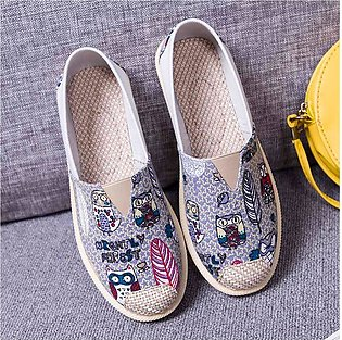 Vintage Lazy Sneakers Shoes Boat Flat Shoes Unisex Casual Breathable Shoes