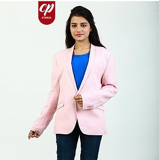 Cut Price Casual Coat Blazer for Ladies Baby Pink