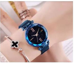 woman watch female watch Luxury Magnetic Strap Watch With Free Gift BOX