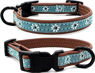 04 Sizes Adjustable Cat Dog Artificial Leather Collars Dogs Soft Padded Pet Col…