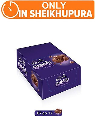 Dairy Milk Bubbly 87g (One Day Delivery in Sheikhupura)