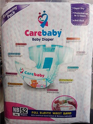 Care baby -economy pack-new born-5 KG -52 PCS