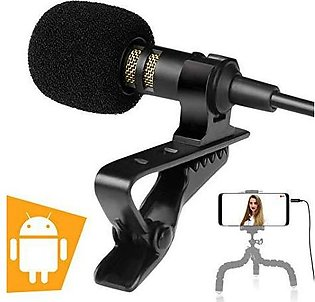 Mini Lavalier Microphone 3.5mm Hands Free Clip On Microphones Mic