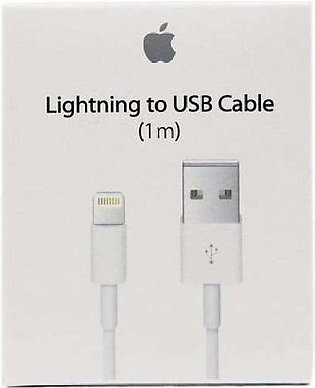 Genuine Lightning USB Data Cable Charger for Apple - White