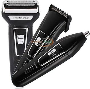 kemei hair trimmer and beard shaver professional 3 in 1 rechargable