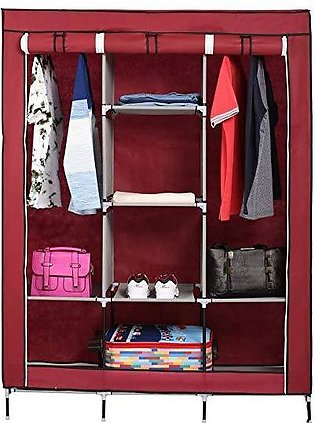 Portable 3 Door Folding Wardrobe set with Furniture & Outdoor Travelling Cupboa…