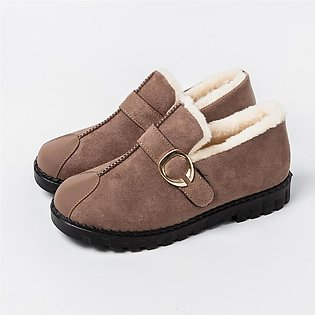 Women Ladies Fashion Cotton Thickening Warm Snowshoes Short Boots Loafers Shoes