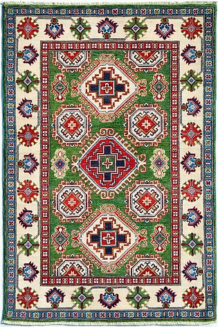 Gree Kazak Real Hand-knotted Traditional Area Rug & Carpet For Living Room   4x6