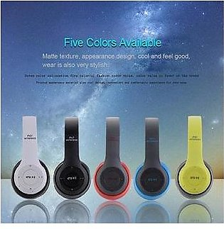 Wireless Headphone BLUETOOTH HEADSET Heavy Bass Sound SD Card, FM and AUX Cab...