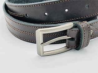 "1 1/4"" Men's Leather Belt, Leather Belt, Cow Leather Belt, Casual Leather Bel..."