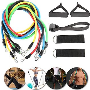 Adsport Exercise Bands sets Bodybuilding 11-piece resistance set can carry up t…