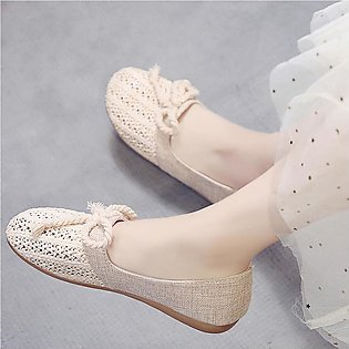 Women's Ladies Fashion Casual Knit Cane Hollow Out Flat Loafers Casual Shoes