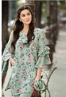 GA - Gul Ahmed-Summer Collection 2019 Pista Silk Collection-3 PC Unstitched-SY-23 -196034