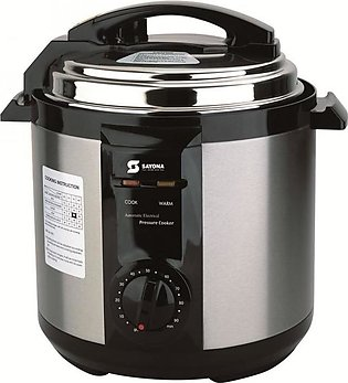 Stainless Steel Electric Pressure Cooker - Black