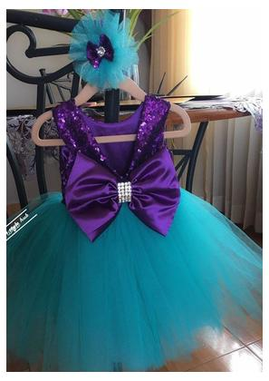 Fancy Branded Net and Silk Frock For Girls (Size 0 to 2xl) 8