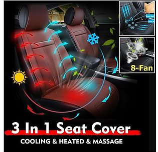 【Free Shipping + Flash Deal】3 In 1 Car Seat Cover Cushion Cooling & Warm Heated & Massage Chair with 8 Fan