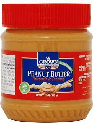 CROWN PEANUT BUTTER SMOOTH & CREAMY 340 GRAMS