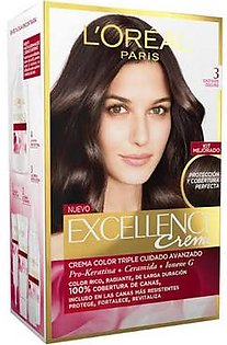 Loreal Excellence Hair color 3 Dark Chestnut Brown (Dark Brown)
