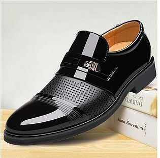 Shoes Men Luxury Ventilation Pointed Toe Business Casual Patent Leather Wedding