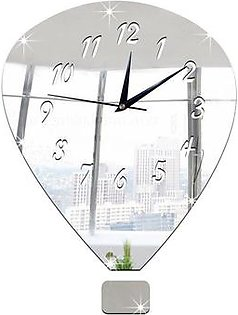 acrylic Wall Clock Fashion hot air balloon acrylic mirror wall clock