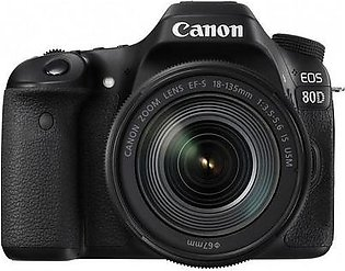 Canon 80D DSLR Camera with 18-135mm