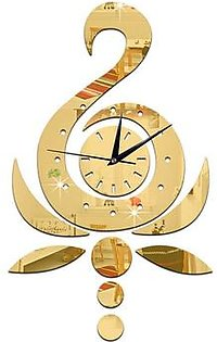 GZ032 Swan Lotus Wall Clock Study Background Wall Mirror Wall Clock